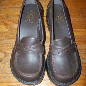 EUC Size 7 Women's Arizona Chunky Brown Loafers